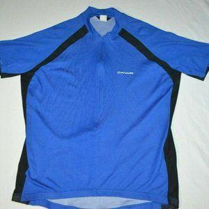Canari Blue Black Short Sleeve 1/2 Zip Cycling